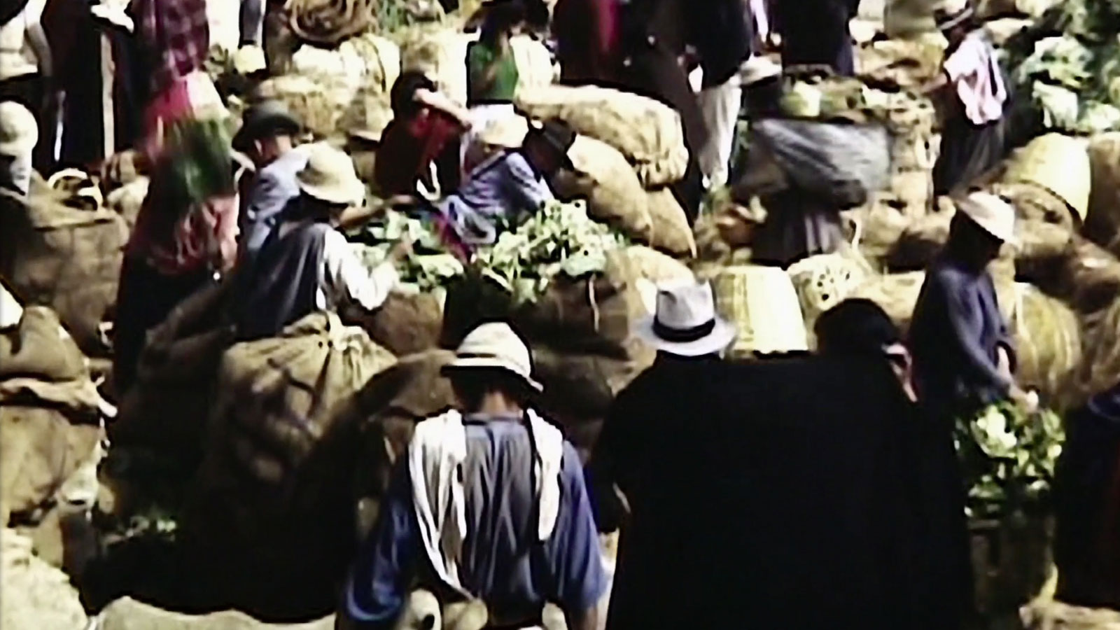 Indigenous market in Ecuador in the 1940s.